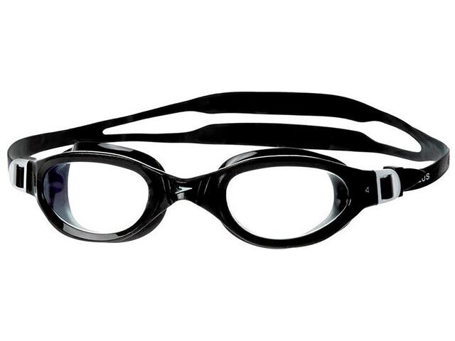 speedo Futura Plus Svømmebriller, black/clear
